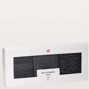 Lululemon Born To Sparkle Sock *3 Pack